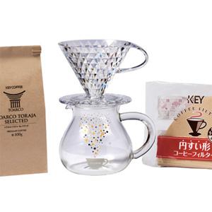 KEY COFFEE、数量限定 オリジナルデザインのドリッパー&サーバーセット