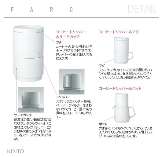 KINTO(キントー)FARO(ファーロ)コーヒードリッパー&サーモマグ・マグ・ポット