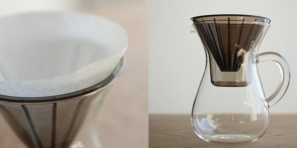 KINTOのSLOW COFFEE STYLE コーヒーカラフェセット ペーパードリップ用のプラスチックドリッパー