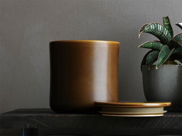 kinto(キントー)SLOW COFFEE STYLE 磁器製キャニスター ブラウン