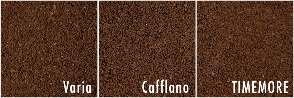 cafflano Varia Timemore NANO 粒度比較