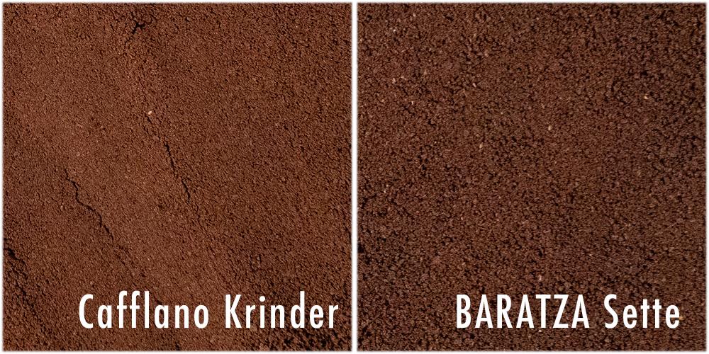 cafflano カフラーノのコーヒーミル Krinder クラインダー 挽き具合 比較