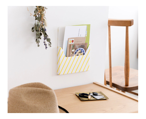 北欧暮らしの道具店 KURASHI&Trips PUBLISHING レター用 収納ポケット グレー