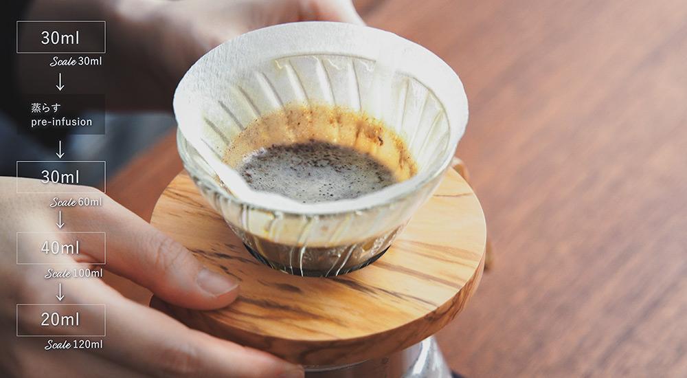 コーヒー アイスコーヒー用にドリップする