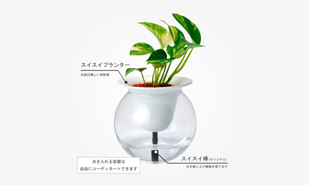 KYUEMON 自動給水型プランター SUISUI/スイスイ