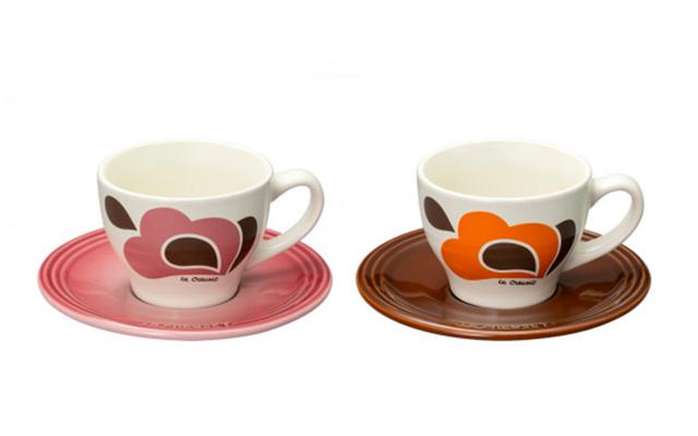 Le Creuset(ル・クルーゼ) ピーコックパレット コーヒーカップ&ソーサー