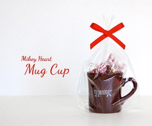 マイキー ハートマグ(ブラウン)チョコクランチ6個付き