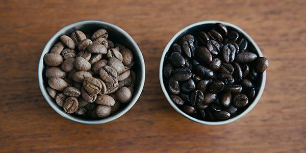 コーヒー豆の焙煎度による違い