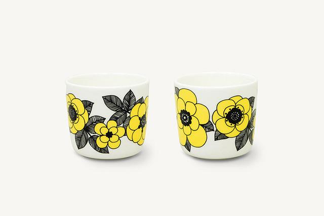 marimekko マリメッコ Oive Kestit 日本限定色、イエロー coffee cup コーヒカップ