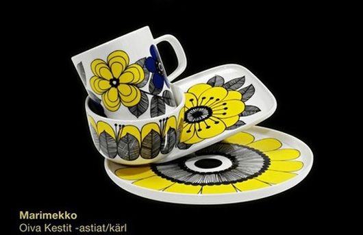 北欧ストックマン(STOCKMANN)生誕150周年を記念限定品 marimekko(マリメッコ)Oiva Kestit(オイヴァ・ケスティト)のマグカップ・ボウル・プレート