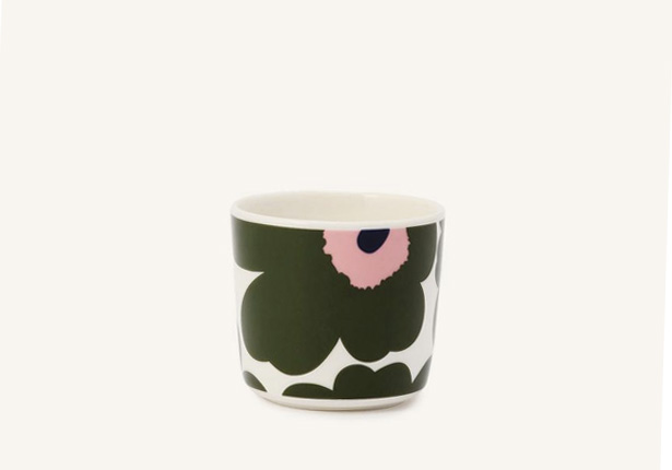 marimekko UNIKKO COFFEE CUP ホワイト×グリーン×ピンク