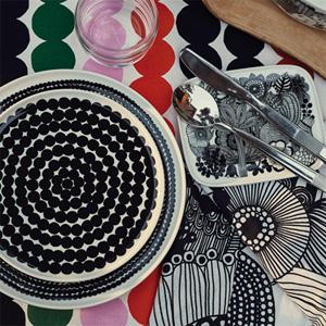 マリメッコ、シイルトラプータルハ柄とラシィマット柄のOIVA食器シリーズに新作が登場!かわいいです。