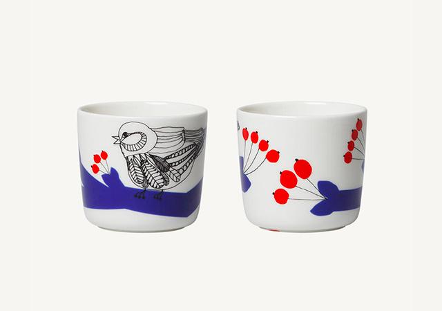 marimekko(マリメッコ)Pakkanen(パッカネン/霜) コーヒーカップセット