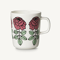 marimekko(マリメッコ)Vihkiruusu(ヴィヒキルース/ウェディングローズ)日本限定カラー マグカップ