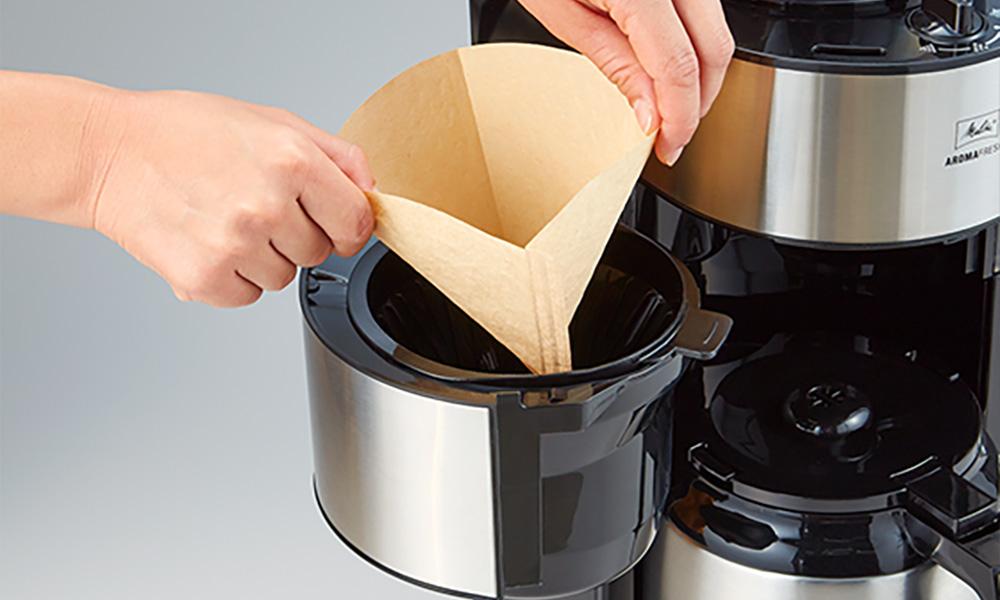 Melitta(メリタ)ミル付き全自動コーヒーメーカー アロマフレッシュサーモ コーヒー量の調節