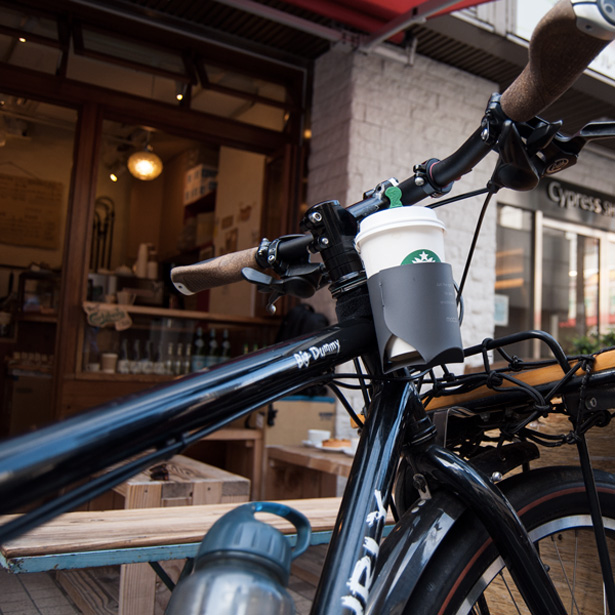 コーヒーカップを自転車に 取り付けられるmoca(モカ)のカップホルダー