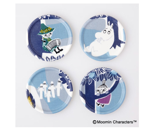 『MOOMIN TRIBUTE WORKS』のコースター ブルー