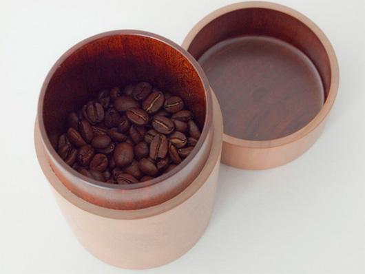 necco(ネッコ)オリジナル コーヒー豆入れ(白摺り漆)
