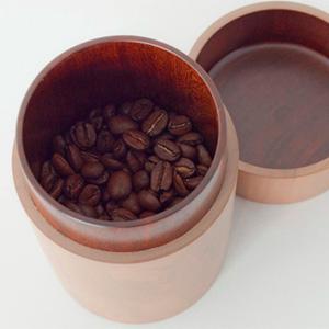 necco(ネッコ)オリジナル コーヒー豆入れ(ナチュラル・白摺り漆 )