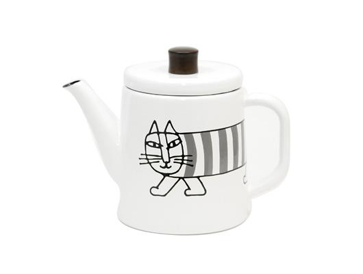 【野田琺瑯 × リサ・ラーソン】  コーヒーポット「ポトル」のMIKEY(マイキー)柄