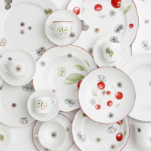 PASS THE BATON × ミナ・ペルホネン × リチャードジノリ コーヒーカップ&ソーサ・カップ・プレートなどを11月28日から発売