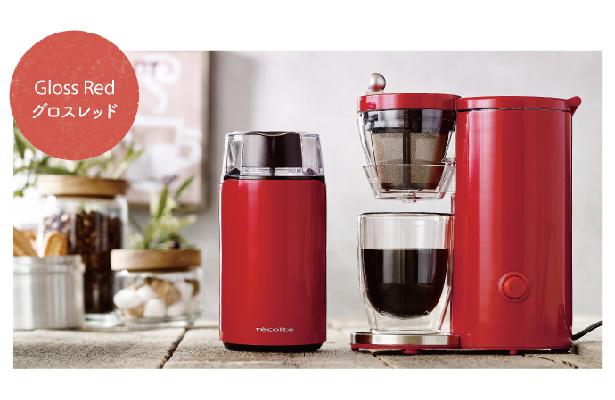 recolte(レコルト) Coffee Mill(コーヒーミル)  Gloss Red(グロスレッド)/RCM-1(R)