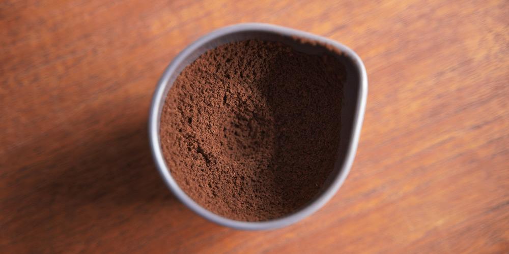 ROK コーヒーグラインダーで挽いた粉