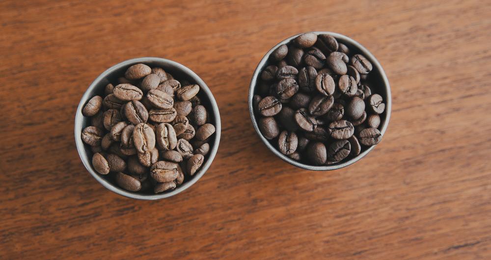 コーヒー豆 焙煎度の違い