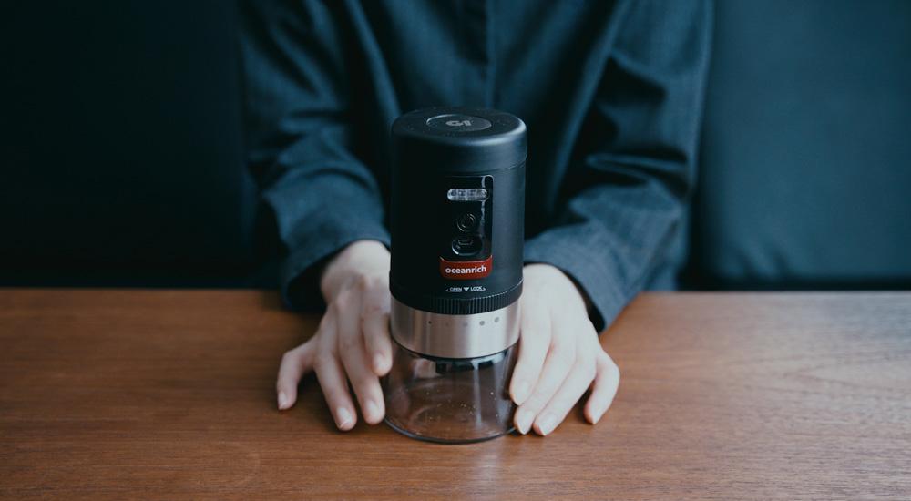 コードレスの充電式コーヒーミル