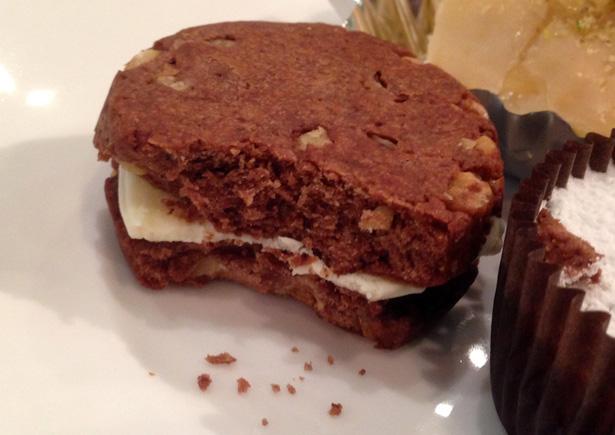 チョコレートショートブレッドサンドウィッチクッキー
