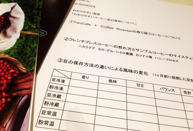 D&DEPARTMENTのD SCHOOL 『わかりやすいコーヒー豆の保存について』に行って来ました。