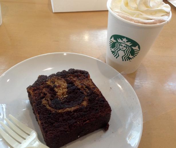 スターバックスコーヒー カフェモカとカフェモカケーキ