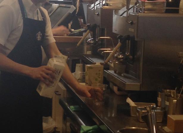 スターバックスコーヒーのエスプレッソマシン