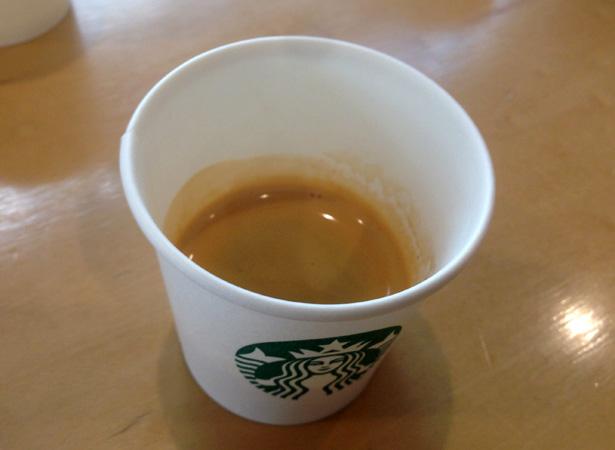 スターバックスコーヒーのエスプレッソコーヒー