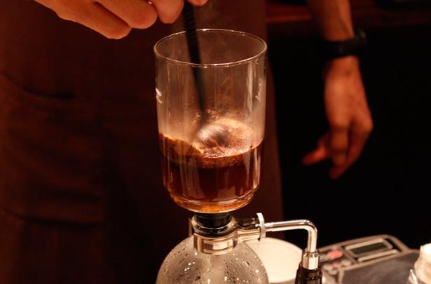 豆香洞コーヒーセミナー サイフォン