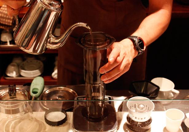 豆香洞コーヒーセミナー エアロプレス