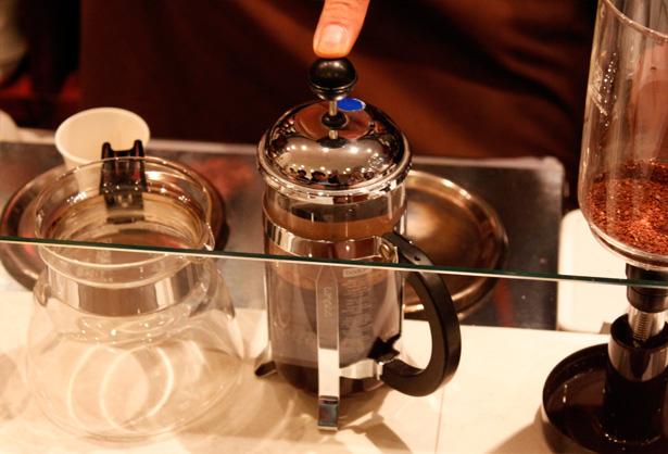 豆香洞コーヒーセミナー フレンチプレス