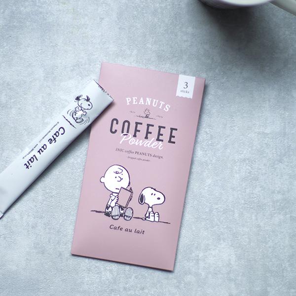 INIC coffee PEANUTS design  カフェオレ専用ドリップドコーヒーパウダー