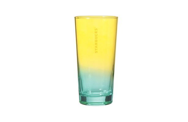 カラーグラス イエロー&グリーン 420ml