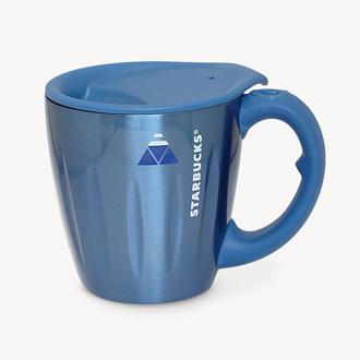 スターバックスコーヒーの山梨限定ステンレスネットワーカーマグ富士山ブルー