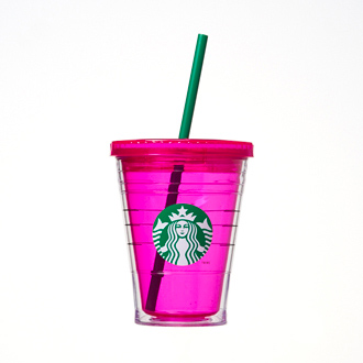 ロゴコールドカップタンブラー ピンク
