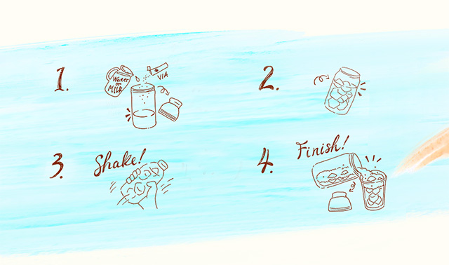 スターバックスコーヒー シェイカーボトルブルー 443ml