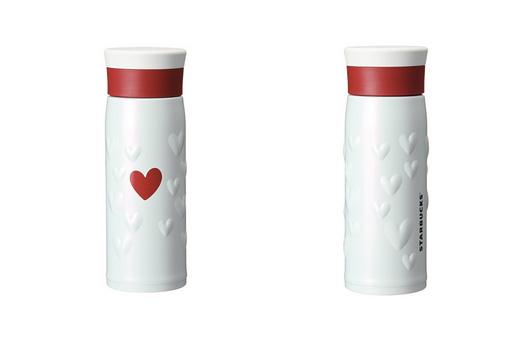 ステンレスボトルバレンタインホワイト