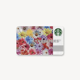 ミニ スターバックス カード フラワー カラー