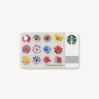 ミニ スターバックス カード フラワー ホワイト