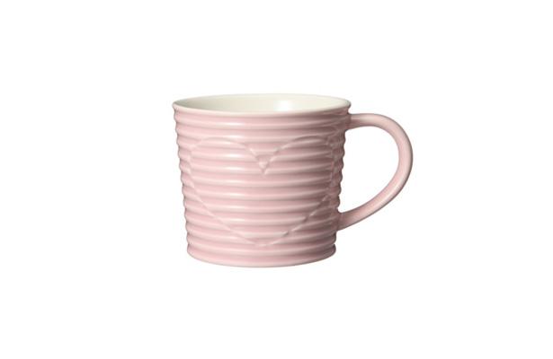 ウィンター ストライプマグ ピンク