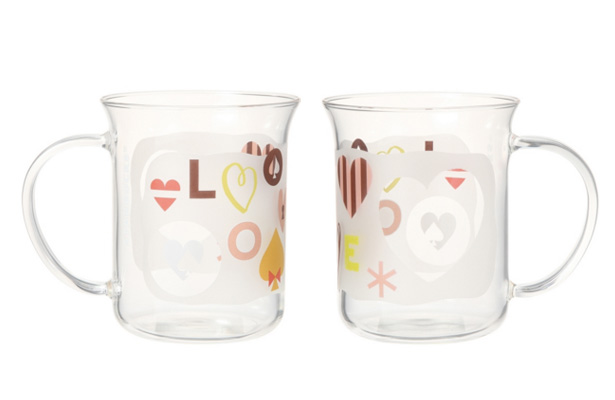 ウィンター LOVEメッセージ 耐熱ガラスマグ