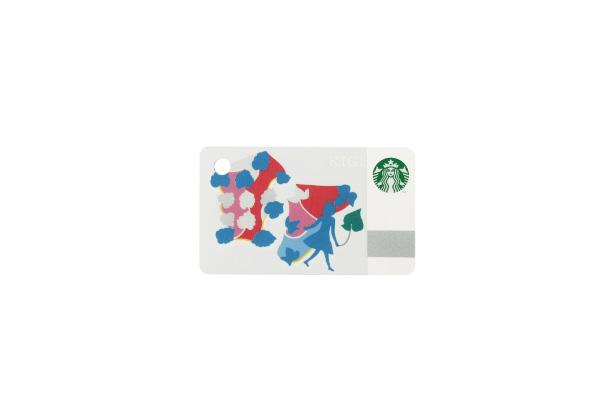 ミニ スターバックス カード ウォーキングガール