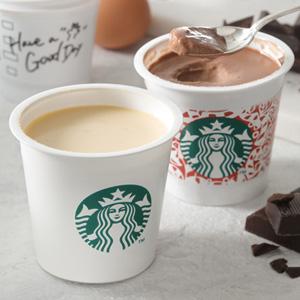 スタバオリジナル『ミルクカスタードプリン』と『チョコレートプリン』がついに登場!