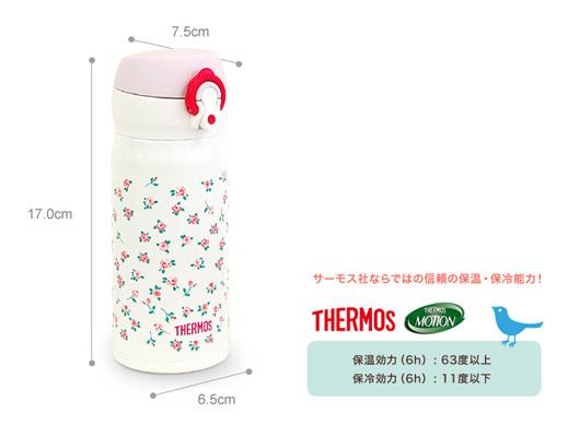 THERMOS(サーモス)× junko Suzuki 限定モデル「THERMOS PREMIUM COLLECTION」ケイタイマグ(ステンレスボトル)350ml